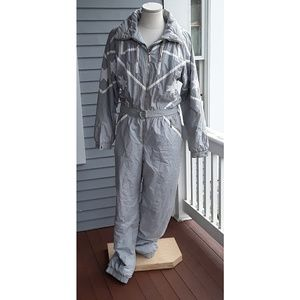 Kitex Onesie Ski Suit Gray and white, Riri